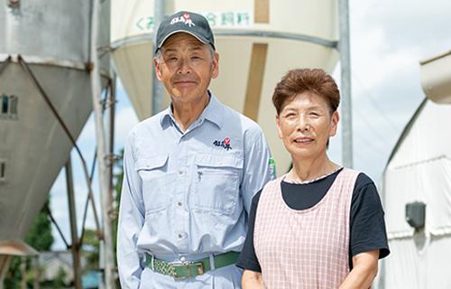 夫婦二人三脚で牛の健康を見守り続けます。